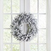 Flocked Grandis Fir Wreath