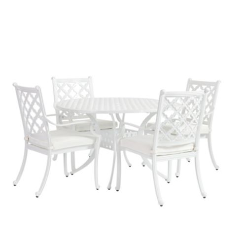 Maison 5-Piece Round Dining Set with Cushions