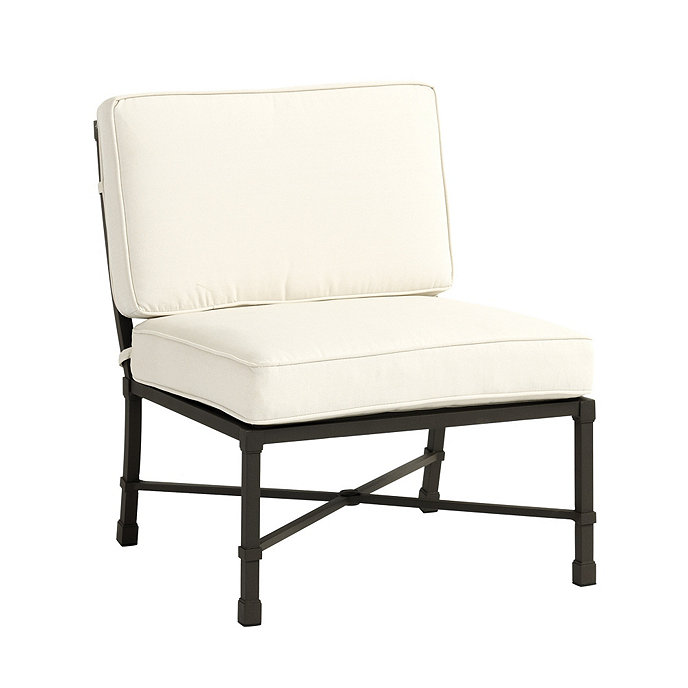 Awe Inspiring Suzanne Kasler Directoire Armless Lounge Chair With Cushions Theyellowbook Wood Chair Design Ideas Theyellowbookinfo