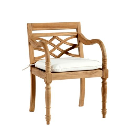 Ceylon Teak Dining Armchair with Cushion
