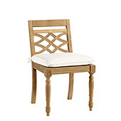 Ceylon Teak Dining Side Chair with Cushion