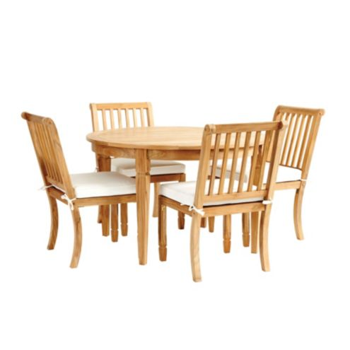 Madison 5-Piece Round Dining Set with Cushions