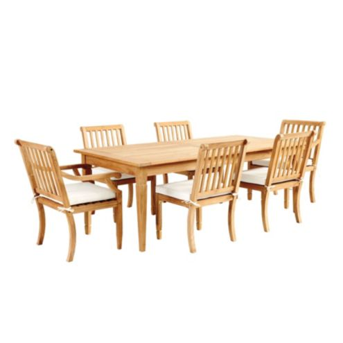 Madison 7-Piece Rectangular Dining Set with Cushions