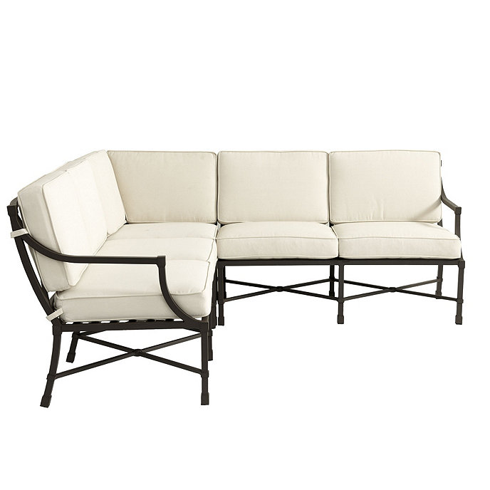 Cool Suzanne Kasler Directoire 3 Piece Sectional With Cushions Theyellowbook Wood Chair Design Ideas Theyellowbookinfo