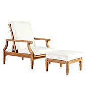 Madison Reclining Chair & Ottoman with Cushions