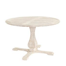 Suzanne Kasler Orleans Round Pedestal Dining Table Ballard Designs - Round white washed dining table