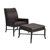 Bunny Williams La Colina Lounge Chair & Ottoman