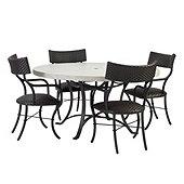 Bunny Williams La Colina 5 Piece Dining Set with Klismos Chairs