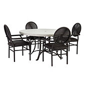 Bunny Williams La Colina 5 Piece Dining Set with Dining Chairs