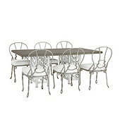 Miles Redd Bermuda 7-Piece Rectangle Dining Set with Cushions