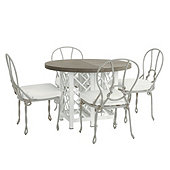 Miles Redd Bermuda 5-Piece Round Dining Set with Cushions