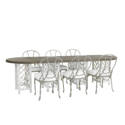 Miles Redd Bermuda 9-Piece Oval Dining Set with