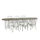 Miles Redd Bermuda 9-Piece Oval Dining Set with Cushions