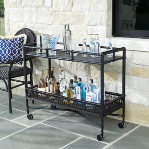Bunny Williams La Colina Outdoor Bar Cart