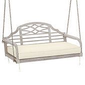 Ceylon Porch Swing - Whitewash