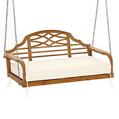 Ceylon Porch Swing - Natural Teak