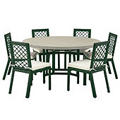 Miles Redd Lancaster 7-Piece Dining Set with Cushions