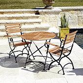 Giardino 3-Piece Café Dining Set with Armchairs