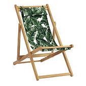 Classic Beach Folding Chair - Biscayne Green Sunbrella