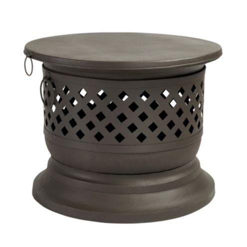 Harlake Wood Burning Fire Bowl with Lid