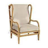 Ceylon Fast Dry Wingback Chair Cushion - Canvas Beige Sunbrella