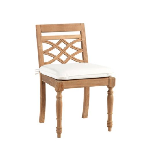 Ceylon Teak Side Chair Replacement Cushion