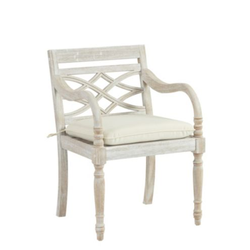 Ceylon Whitewash Armchair Replacement Cushion