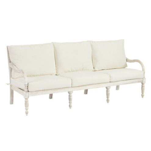 Ceylon Whitewash Sofa 6-Piece Replacement Cushion Set