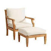 Madison Lounge Chair & Ottoman 3-Piece Replacement Cushion Set