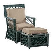 Miles Redd Lancaster Lounge Chair & Ottoman 3-Piece Replacement  Cushion Set
