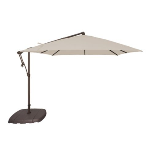 8.5' Square Cantilever Umbrella with Base