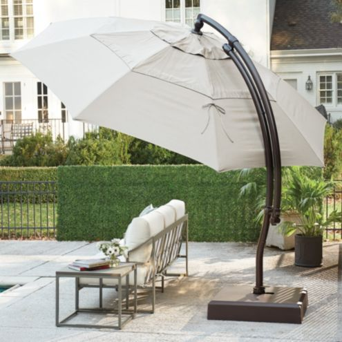 13' Octagon Cantilever Patio Umbrella with Base Canvas