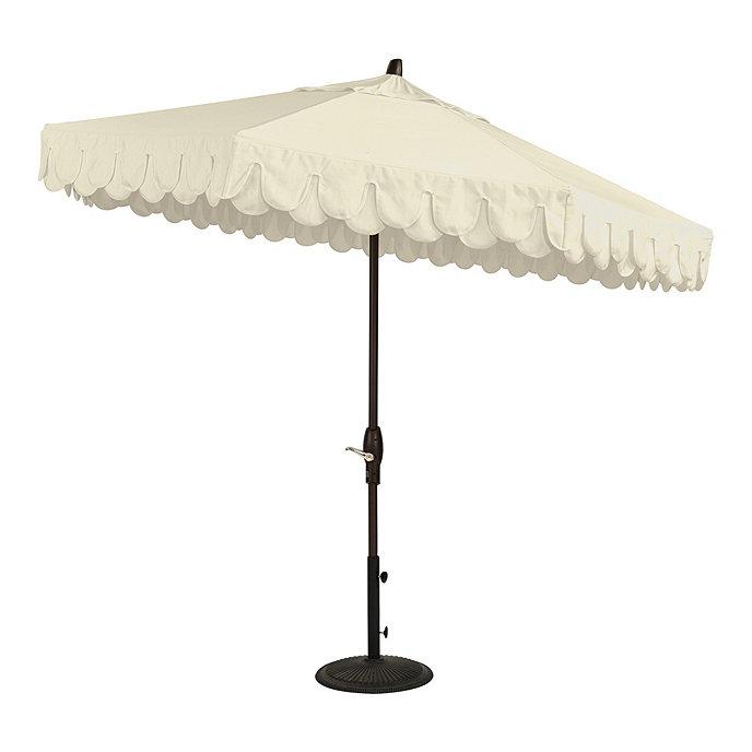 Dalia Scalloped Patio Umbrella Canopy