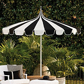 Pacific Pagoda 8.5 ft Umbrella with Alternating Panels