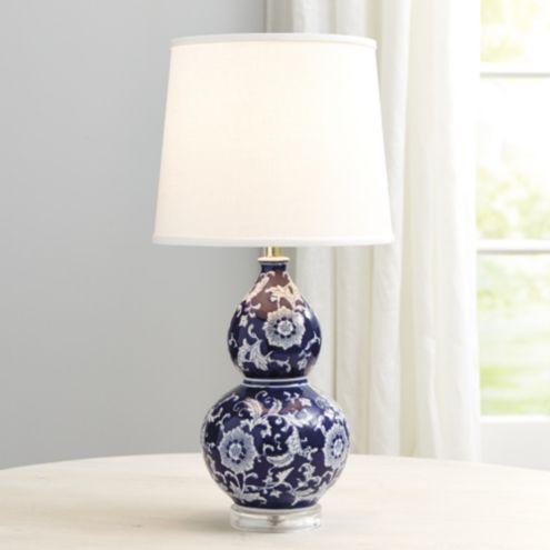 Blue Amp White Double Gourd Table Lamp Ballard Designs