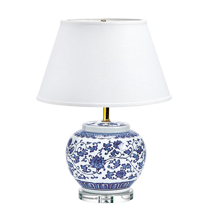 ordinary Ballard Designs Lamps Part - 14: Blue u0026 White Single Round Chinoiserie Table Lamp
