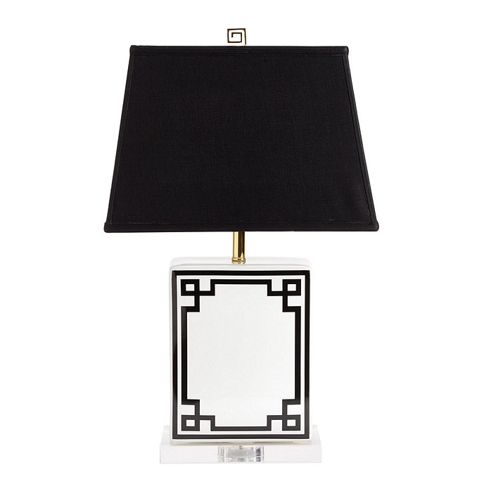 nice Ballard Designs Lamps Part - 18: Nia Greek Key Table Lamp