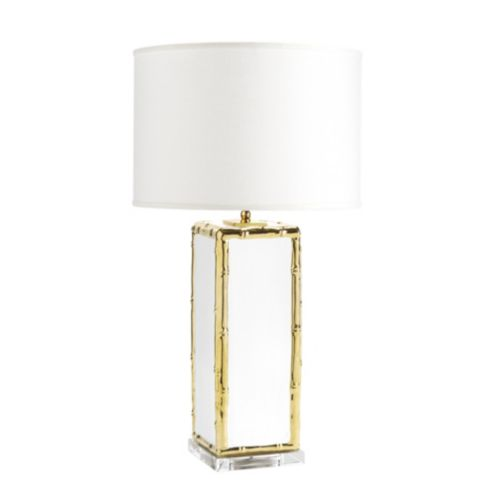 Reena Bamboo Frame Ceramic Table Lamp