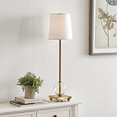 Celia Glass Buffet Lamp