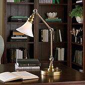 Quinn Milk Glass Task Lamp