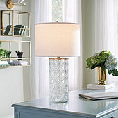 Lucinda Etched Glass Table Lamp