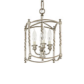 Carriage House Small Pendant - Antique Silver