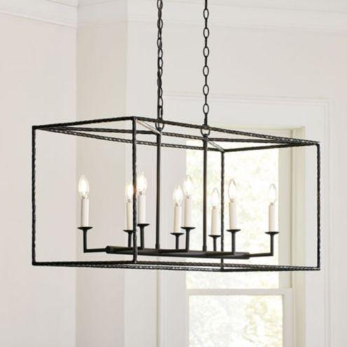 Hadley 8 light pendant rectangular ballard designs aloadofball Gallery