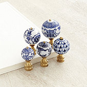 Blue & White Finials