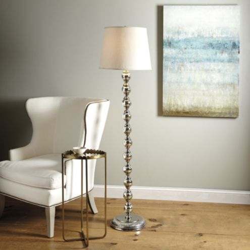 Mercury Glass Stacked Ball Floor Lamp Ballard Designs