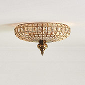 Lucille Faceted Crystal Ceiling Mount