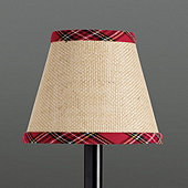 Suzanne Kasler Holiday Plaid Trim Chandelier Shade