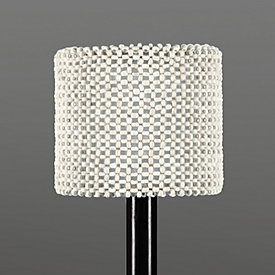 Grasscloth chandelier lamp shade coco bead chandelier shade aloadofball Image collections