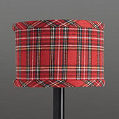 Suzanne Kasler Holiday Plaid Drum Chandelier Shade