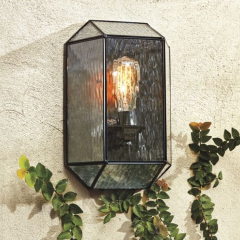 Micah 1-Light Faceted Outdoor Sconce